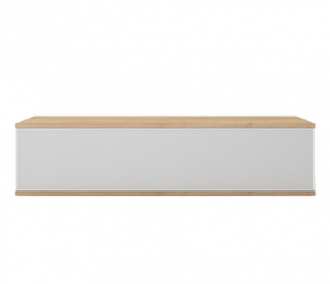 mesa television blanca flotante