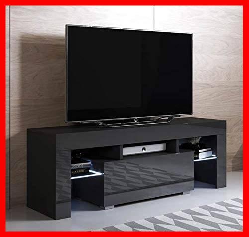 mesa tv negra LED