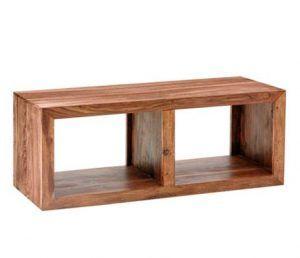 mesa tv madera suspendida