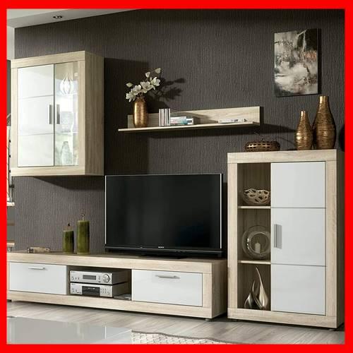 Mueble tv por modulos con vitrinas