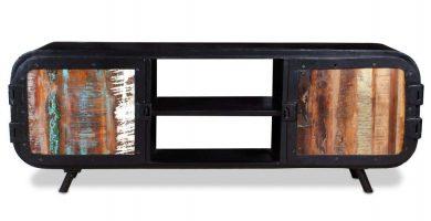 Mueble tv industrial madera