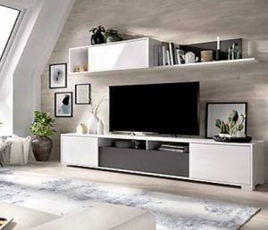 Mueble television modular blanco