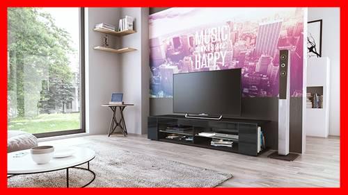 mesa televisión negra moderna