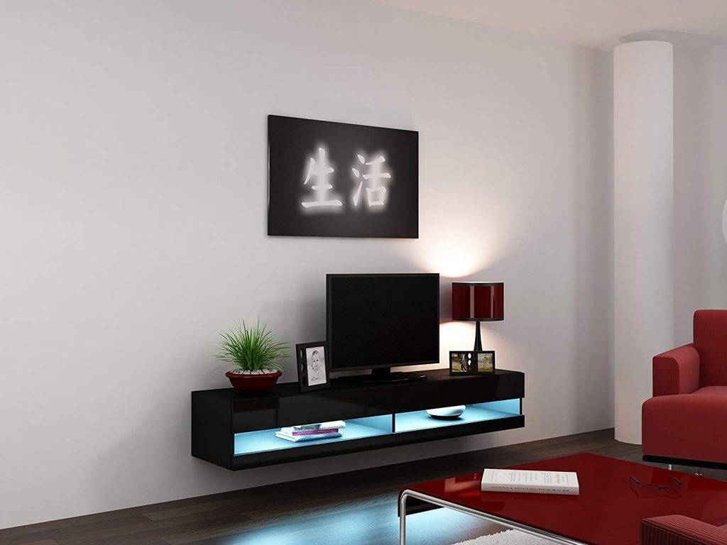 mueble tv led flotante