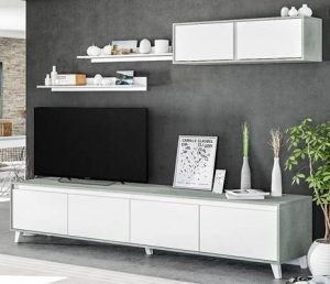 mueble tv modular 85 pulgadas