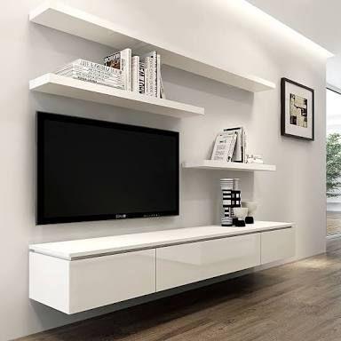 mueble bajo tv colgado